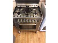 AEG five hob duel fuel cooker