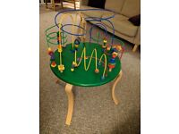 Wooden baby activity table