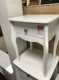 1 drawer bedside table - white