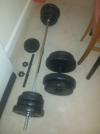 barbell and dumbells weights 60kg