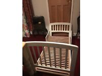 John Lewis White child's bed. Used but in good condition. Granddaughter grown out of now.