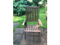 6 matching set Semi-reclining Hardwood garden chairs