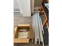 Twinslot metal wall brackets, shelf brackets, lots of conti shelving shelves