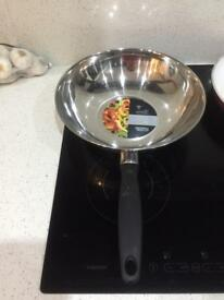 Stainless steel stock pot and wok