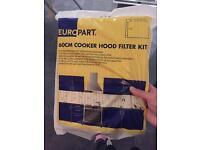 Cooker hood filter kit