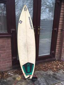 6'3 shortboard surfboard