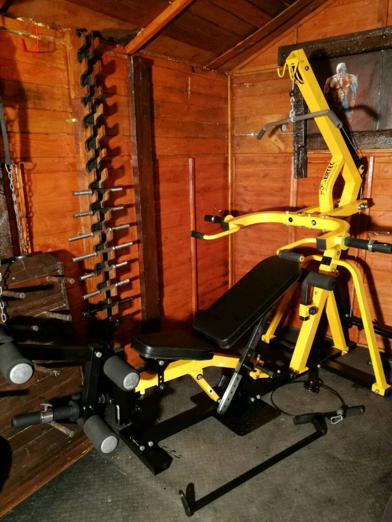 Powertec leverage multi gym with lat pull down,
