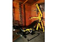 Powertec leverage multi gym with lat pull down, incline decline bench