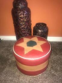 4 items please see pics-Selection of Moroccan style lamps and pouffe