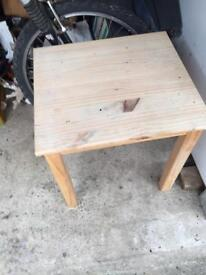 Kids wooden table and two chairs