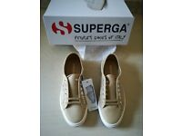 Superga 2750 Cotu Classic Trainers Camel Colour Size 6 Brand new with Box