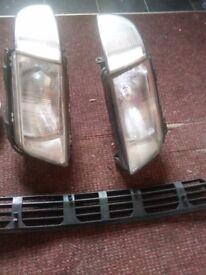 Audi A4 Bumper and Head Lights