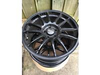 "O.Z 18"" Superleggera Alloy Wheels In Gloss Black VAG Fitment PCD 112 Rare"