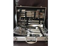 30 piece stainless steel BBQ tool set