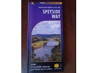 """Map of """"The Speyside Way"""" long distance walk."""