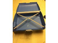 Suitcase, Samsonite hard bodied blue case