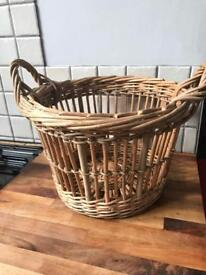 Lovely Small Wicker Log Style Basket