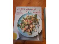 SUPER GRAINS & SEEDS cookery book - hardback book