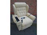Electric riser recliner chair with massage and storage compartment – Dual motor