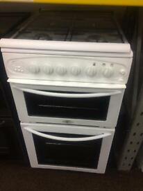 White belling 50cm gas cooker grill & double ovens good condition with guarantee bargain