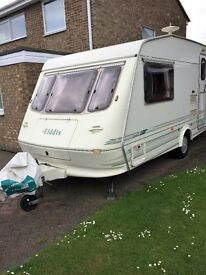 Caravan for sale £2500 ono, Elddis 2 berth 1997 with full awning, extremely well looked after.