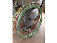 7 x Hula Hoops 1M diameter