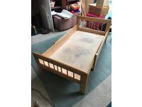 Ikea Children's Wooden Extendable Single Bed