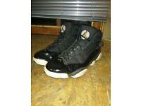 Air Jordan 6 Rings, Black White Metallic Gold, Size 10 UK