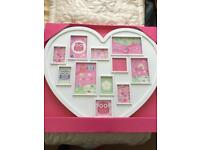 Heart white photo frame