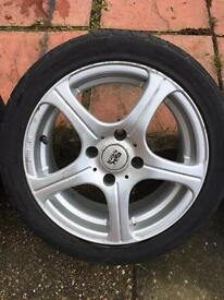 BK alloy wheels