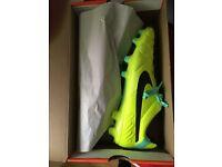 Nike Tiempo Legend IV FG Football Boots Brand New in Box, Unworn, UK Size 10, Volt/Black Green Glow