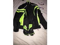Biker jacket and gloves