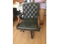 Captains leather swivel chair