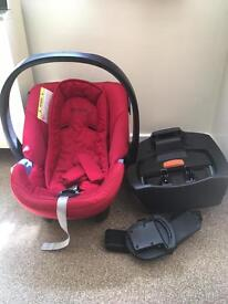 Car seat and isofox