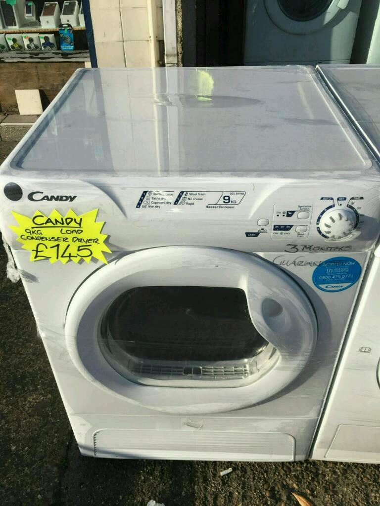 CANDY 9KG CONDENSER DRYER IN WHITE