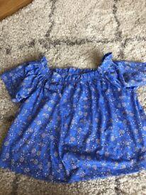 Blue size 12 Miss Selfridge top