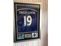 Diego Costa framed signed chelsea fc shirt with coa