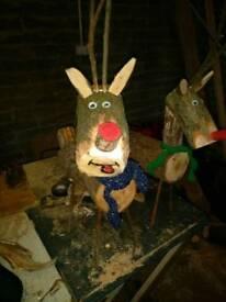 Reindeer, steel legs