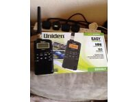 UNIDEN RADIO SCANNER WITH BOX INSTRUCTIONS
