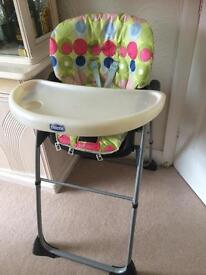 Child's Chico high chair