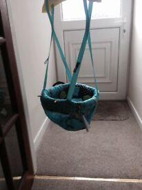 Door hanging baby bouncer