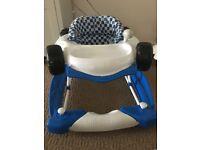 Boys blue F1 raving car walker/rocker