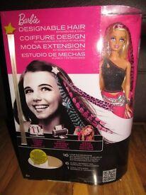 Barbie doll with designable hair