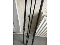 Carp fishing rods and reels