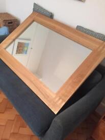 Solid Oak Large Mirror