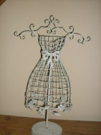 3 x shabby chic distressed mannequin stand/display