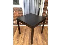 Ikea Alphonzia square dining table - black, 68 x 68 cm