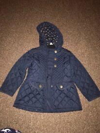 Next navy blue girls coat 3-4