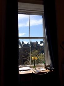 16th May - 30th June: Bright double room in big Marchmont flat