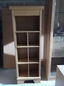 Caxton sherwood oak DVD storage unit